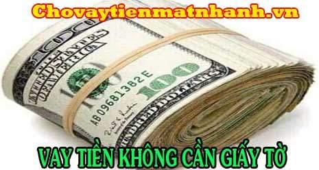 Vay tiền không cần giấy tờ