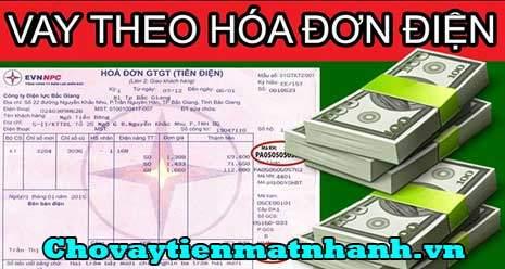 Vay tiền theo hóa đơn tiền điện