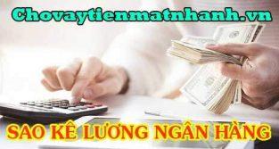 Hướng dẫn cách sao kê lương ngân hàng